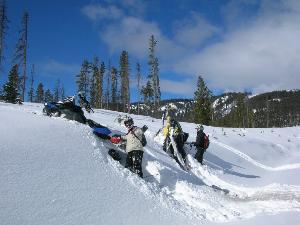 just taking a break from our manning snowmobiling