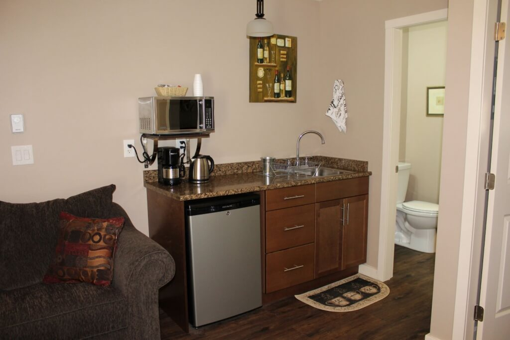 the kitchen of our manning park accommodations